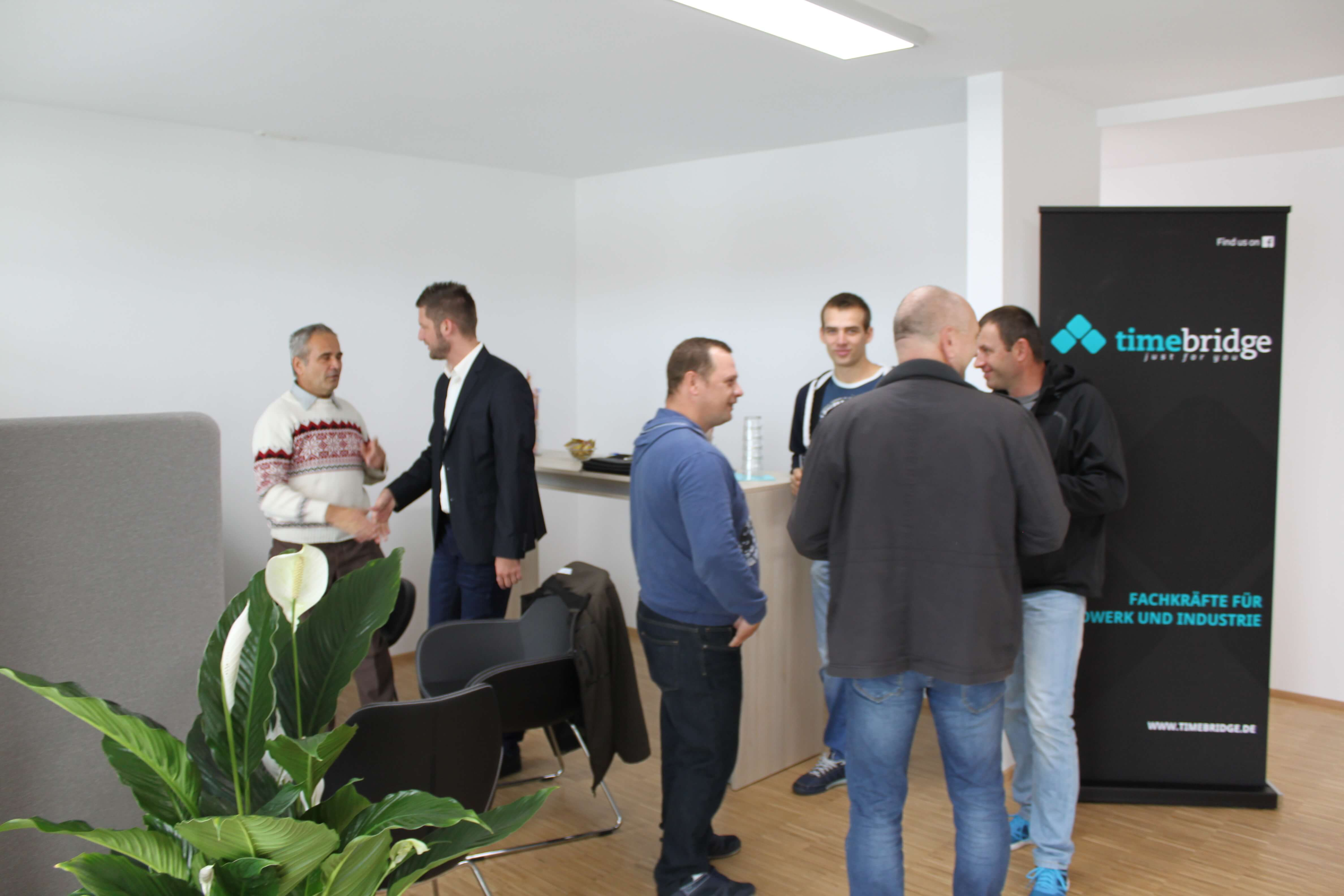 Eröffnung des neuen Büros der Timebridge Zeitarbeitsfirma in Bad Waldsee